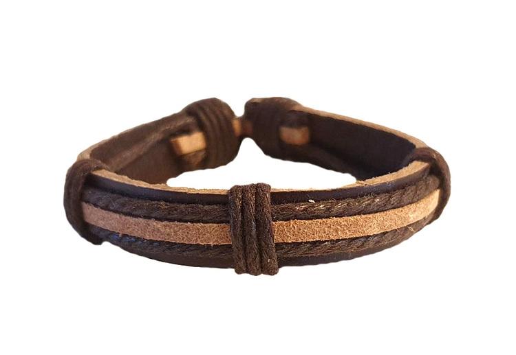 Brunt läderarmband