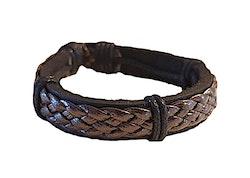 Svart kraftigt läderarmband
