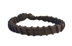 Svart läderarmband
