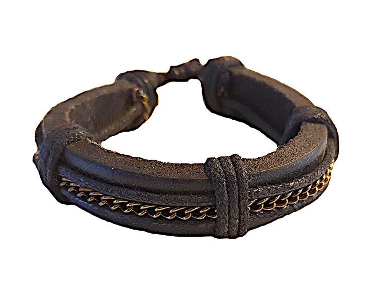 Läderarmband med kedja