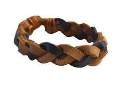 Tvåfärgat läderarmband