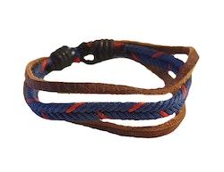 Armband i brunt och blått