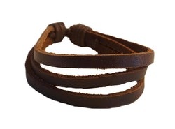 3-radigt brunt armband