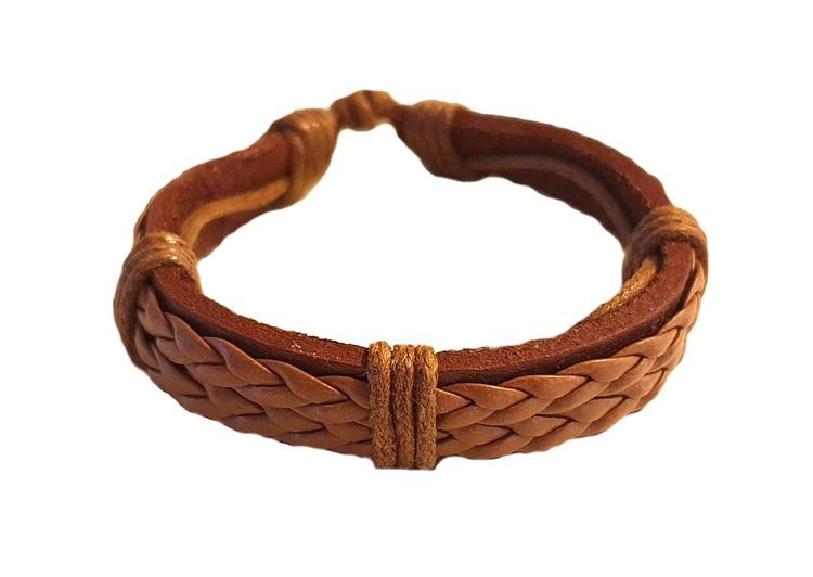 Cognacsfärgat armband