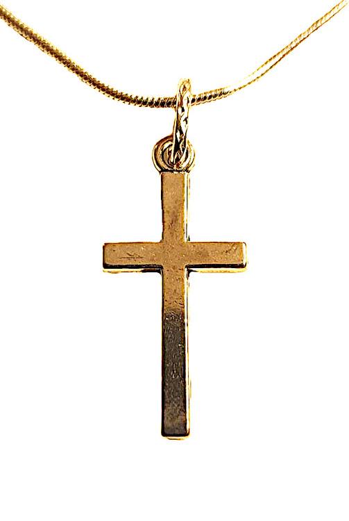 Litet silverfärgat kors