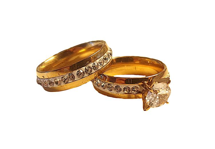 Guldfärgat ringset