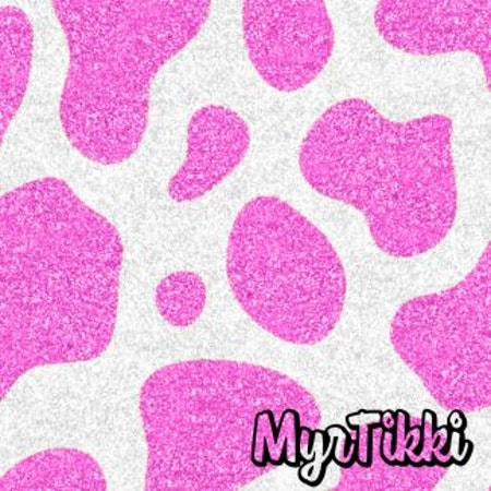 Glittery cow pink