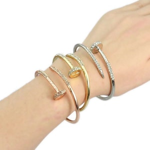 Nail Bangle Guld Rose