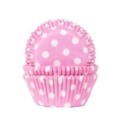 Muffinsform ljusrosa/vitprickig