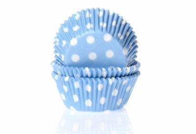 Muffinsform ljusblå/vitprickig