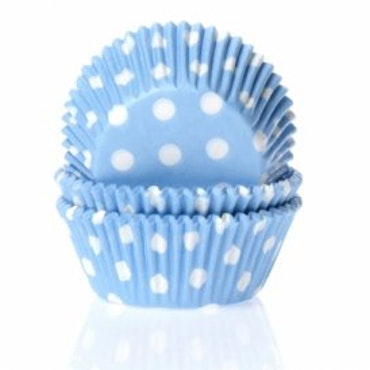Muffinsform blå/vitprickig