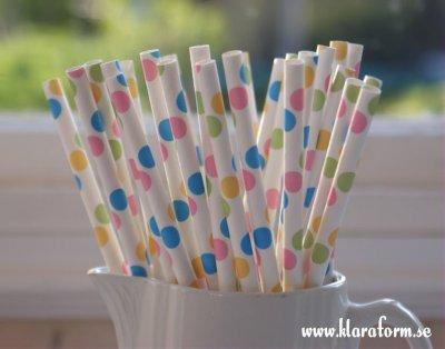 Papperssugrör - confetti
