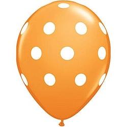 Ballong - orange med prickar 10 st