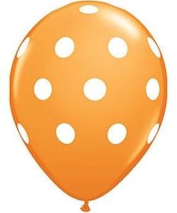 Ballong - orange med prickar