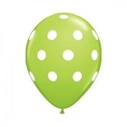 Ballonger 10 st - Limegrön med prickar
