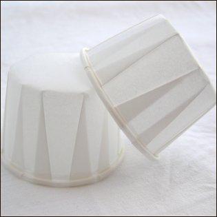 Cupcakeform, vit cup, storlek mellan