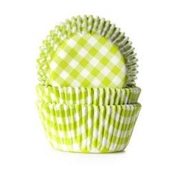 Muffinsform - ljusgrön/vitrutig