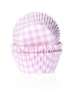 Muffinsform - ljusrosa/vitrutig