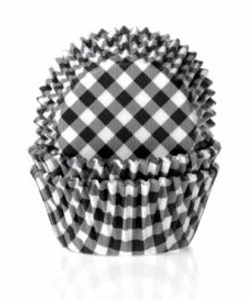 Muffinsform - svart/vitrutig