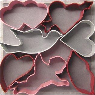 Kakmått - pepparkaksformar, valentin - set