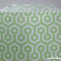 Kalaspåsar 10 st - grön/vit honeycomb