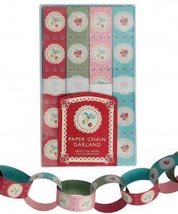 Pappersdekoration - Vintage Doily girlang
