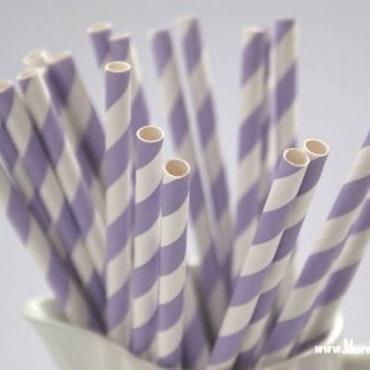 Papperssugrör - Lavendel rand