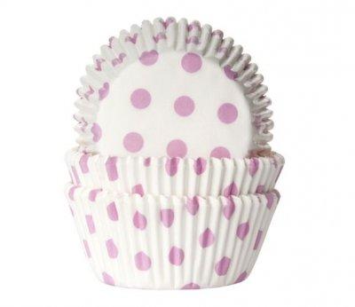 Muffinsform vit med rosa prickar