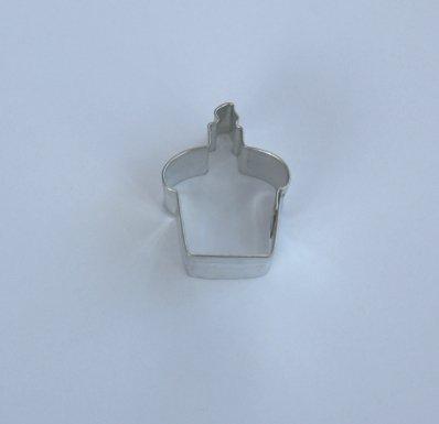 Miniatyrform - cupcake med ljus