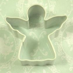 Miniatyrform - ängel, vit