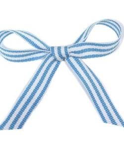 Ripsband - blå/vit rand