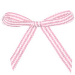 Ripsband - rosa/vit rand