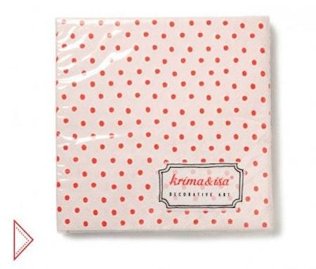 Servetter - rosa med prickar