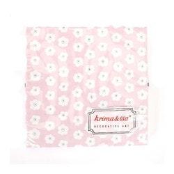 Servetter - rosa, blommig