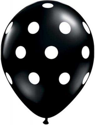 Ballong - svart med prickar
