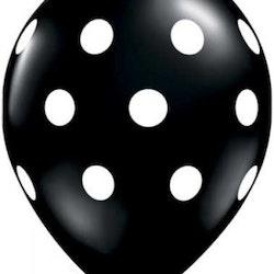 Ballong - svart med prickar 10 st