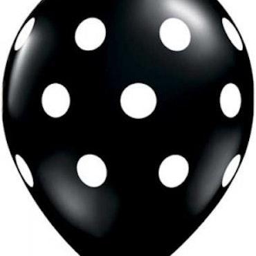 Ballonger 10 st - Svart med prickar