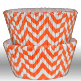 Muffinsform - Chevron, orange