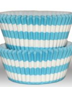 Muffinsform - cirkel, aqua blå