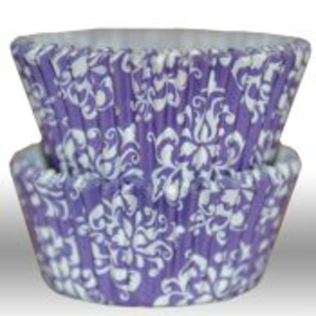 Muffinsform - Damask purple