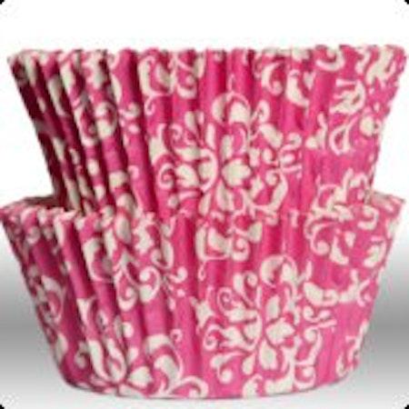 Muffinsform - Damask pink