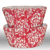Muffinsform - Damask red