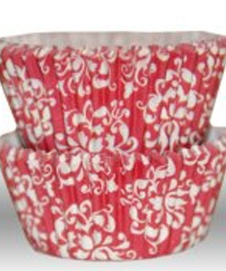 Muffinsform - Damask red