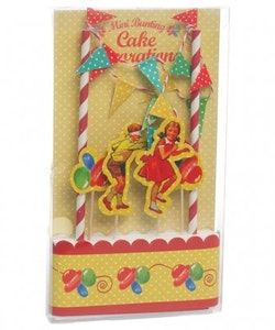 Vintage Party cake bunting set