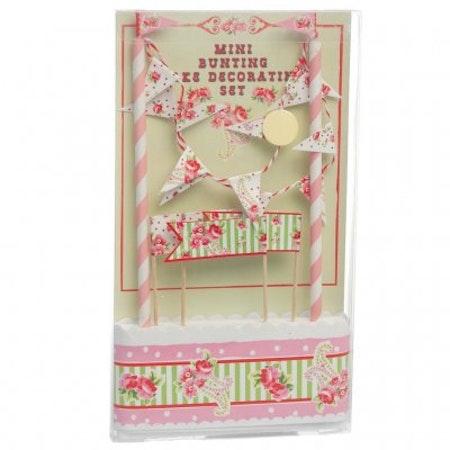 Paisley Rose cake bunting set
