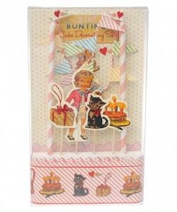 Dress up dolly cake bunting set