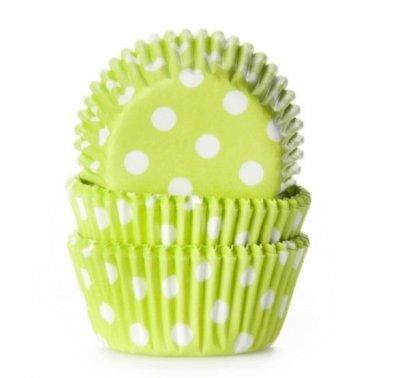 Mini form, limegrön och vitprickig