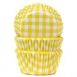Muffinsform - gul/vitrutig
