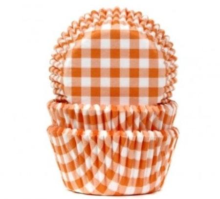 Muffinsform - orange/vitrutig