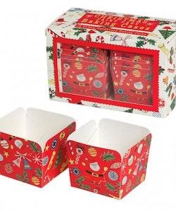 Christmas cake cases 12 st